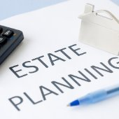estate planning n paper with house and pen