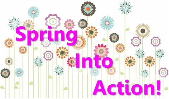 spring into action banner
