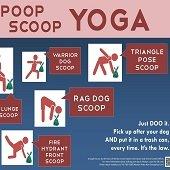 trail yoga sign