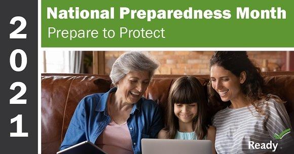 2021 National preparedness month banner