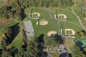 aerial view of ball fields
