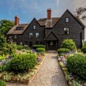 exterior of the House of 7 Gables in Salem Massachusetts