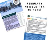 2 photos of the February newsletter