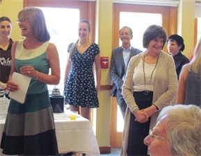 Friends and colleagues gathered to wish Theresa Levinson a happy retirement