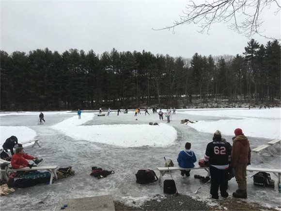 College Pond skating