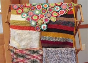 Hand crafted blankets made by Project Linus volunteers