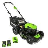 an electric lawnmower