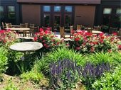 COA patio with flowers