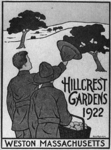 Hillcrest Gardens 1922, Weston Massachusetts book cover