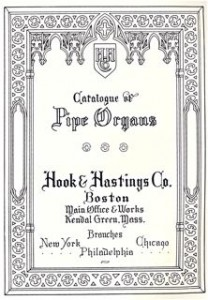 1917 brochure for the Hook and Hastings Co, once Weston's largest industry