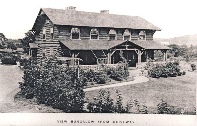 The Thurston Bungalow with its Adirondack lodge style and log construction