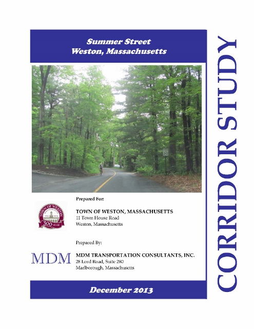Cover of the Summe Street Corridor Study