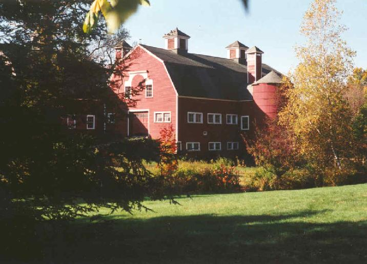 A large red barn