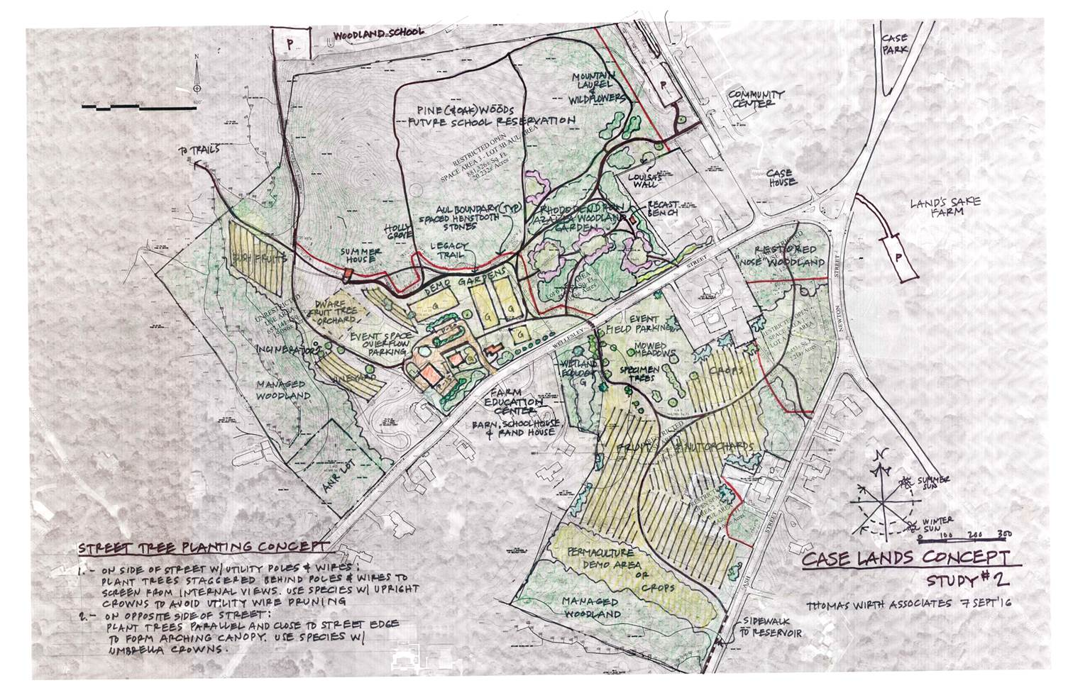 drawing of the case estates land master plan