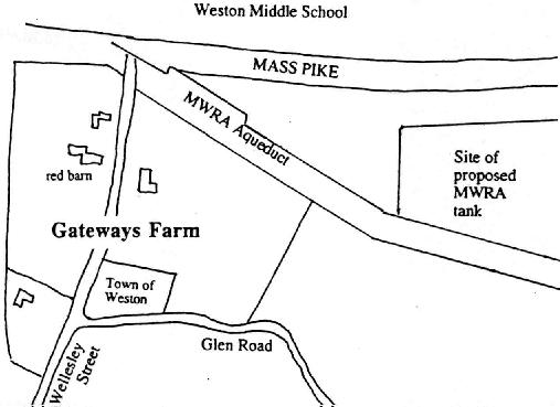 A sketch map of the Wellington Farm area
