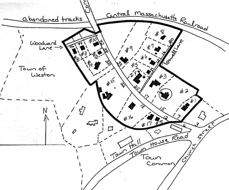 A sketch map of the Lower Conant Road Area