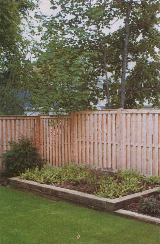 Untreated Wood Fence