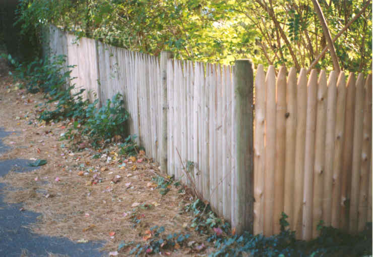 Unfinished Corner of Wood Fence