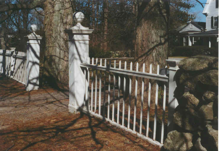 White Metal Fence and Opening