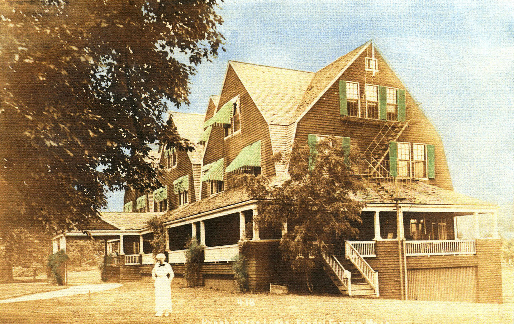 1914 postcard of Drabbington Lodge