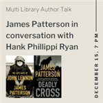 James Patterson Talk with book covers