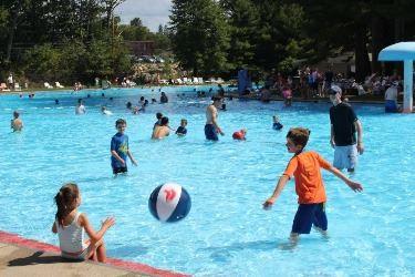 Kids at play in the Weston Memorial Pool
