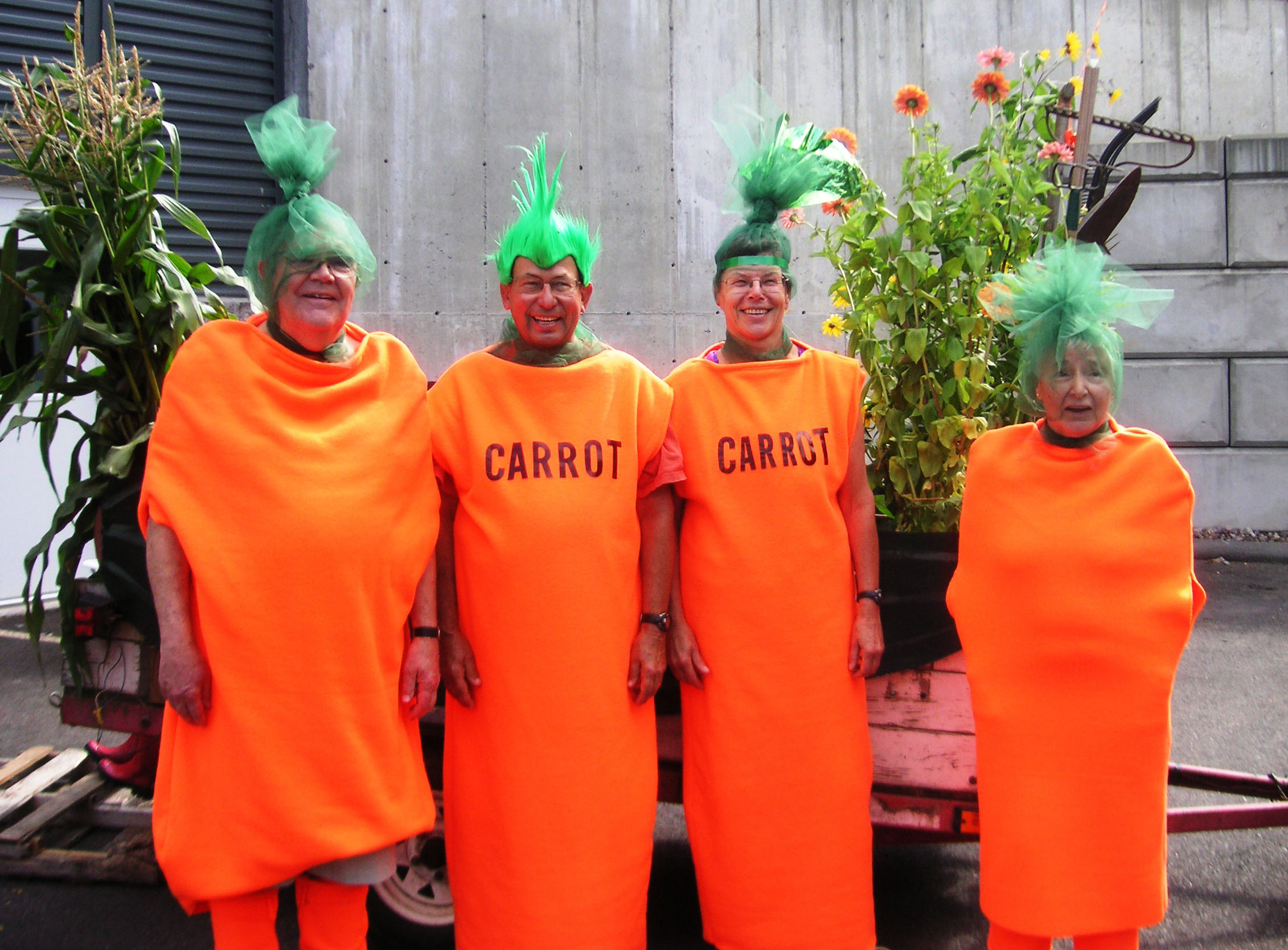 People Dressed as Carrots