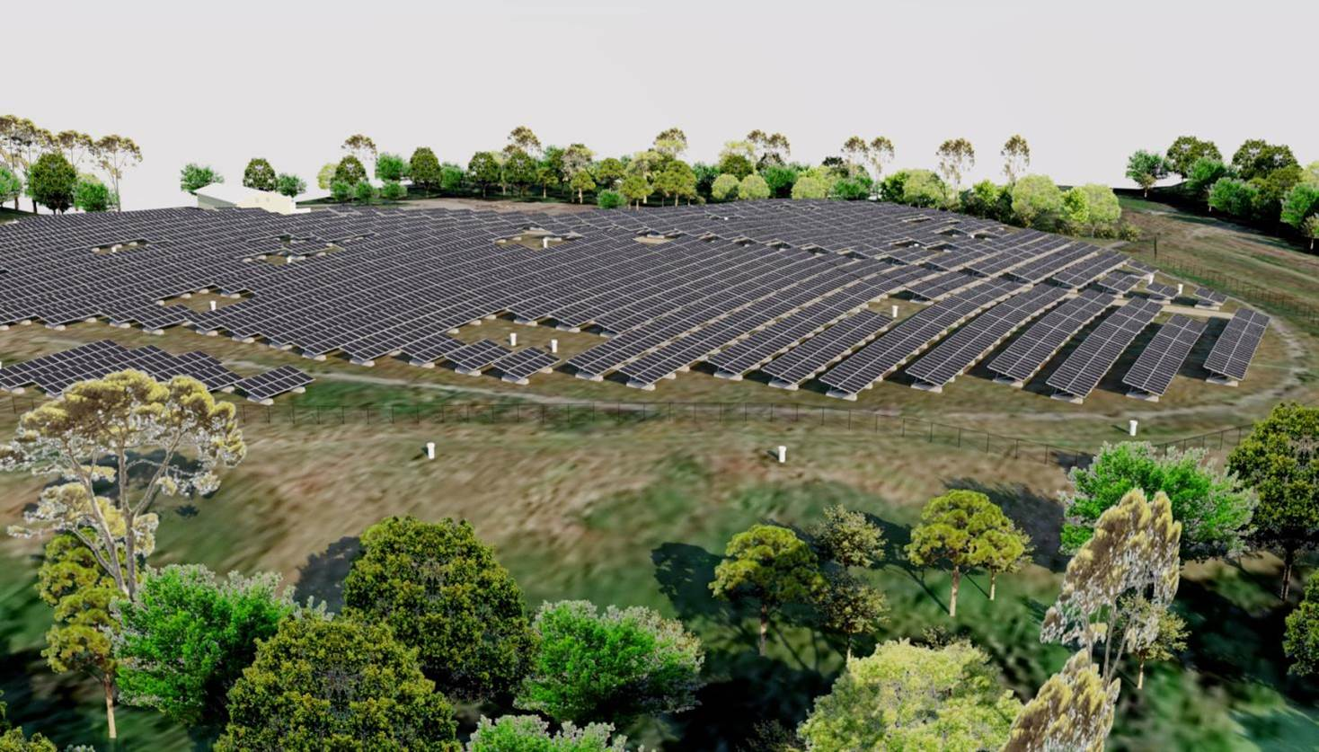 Solar Panel arrays in the proposed location